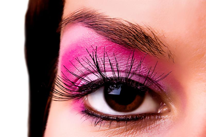 Eye with a make-up royalty free stock photos