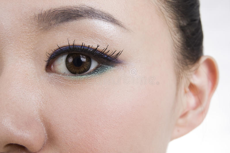 Eye makeup stock image