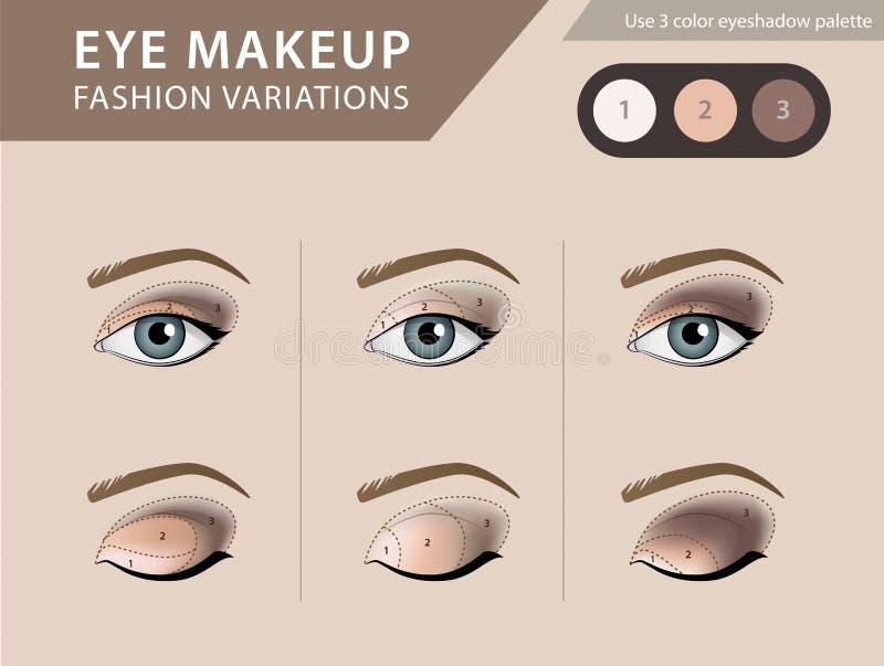 eye makeup tutorial eyeshadow vector template stock vector illustration of face palette. Black Bedroom Furniture Sets. Home Design Ideas