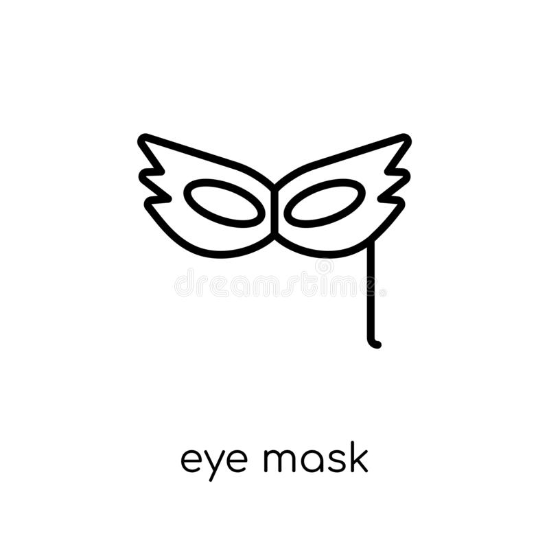 Eye mask icon from Birthday and Party collection. stock illustration