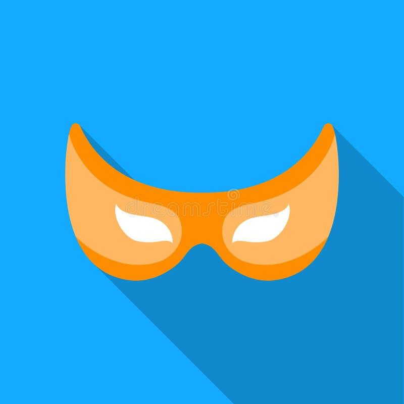 Eye mask icon in flate style isolated on white background. Superhero`s mask symbol stock vector illustration. Eye mask icon in flate style isolated on white royalty free illustration