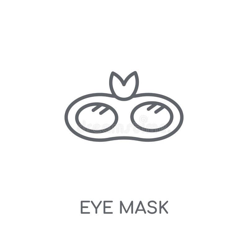 Eye mask linear icon. Modern outline Eye mask logo concept on wh vector illustration
