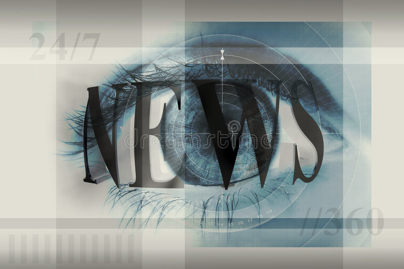 Eye on news royalty free illustration