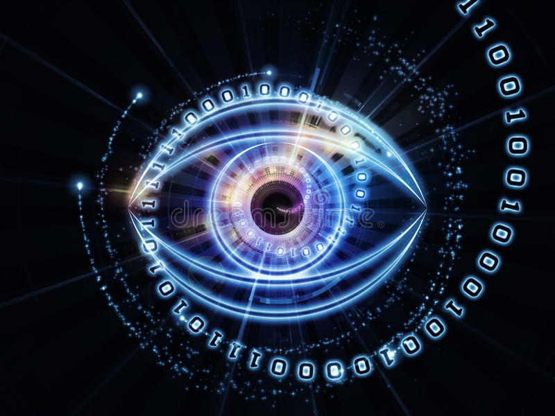 Eye of numbers stock illustration