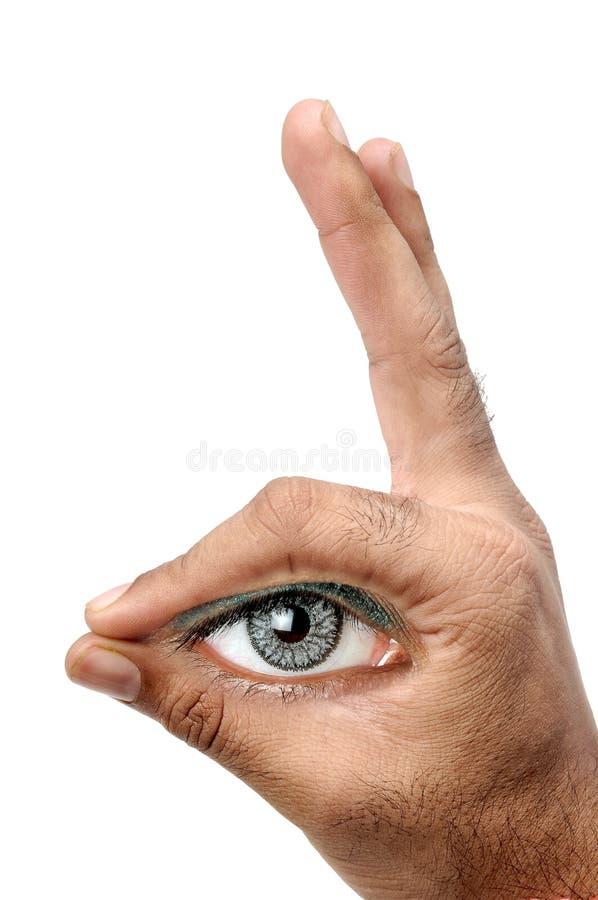 Download Eye observation stock image. Image of hand, vision, male - 15261887
