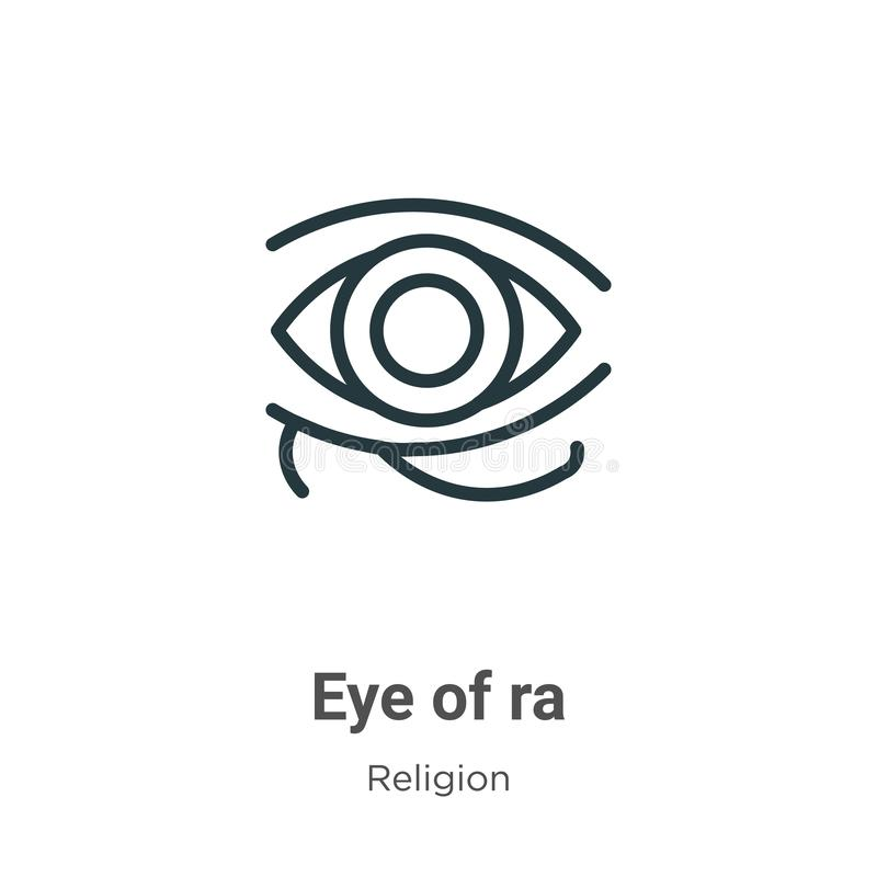 Free Eye Of Ra Outline Vector Icon. Thin Line Black Eye Of Ra Icon, Flat Vector Simple Element Illustration From Editable Religion Stock Photos - 167216263