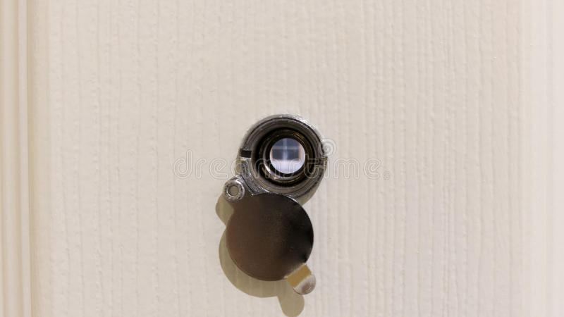 Eye peephole royalty free stock images