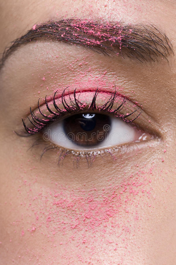 Download Eye with Pink Eyeshadow stock image. Image of flutter - 17074541
