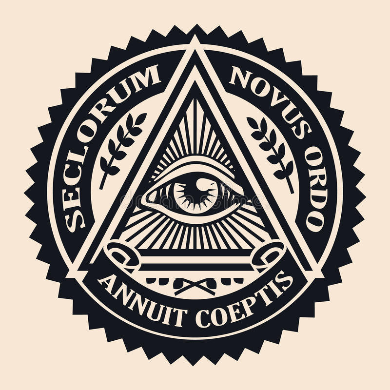 Eye Of Providence Masonic Symbol Conspiracy Theory Parchment