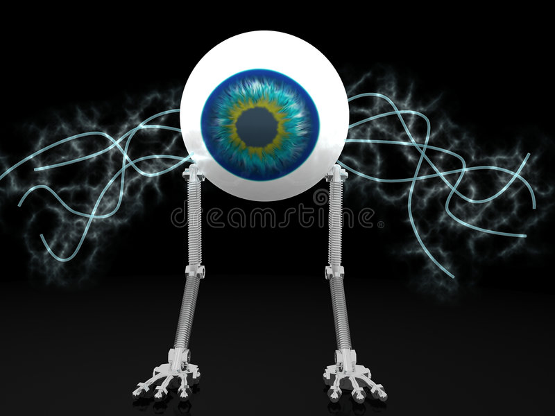 Eye robot with electric wires
