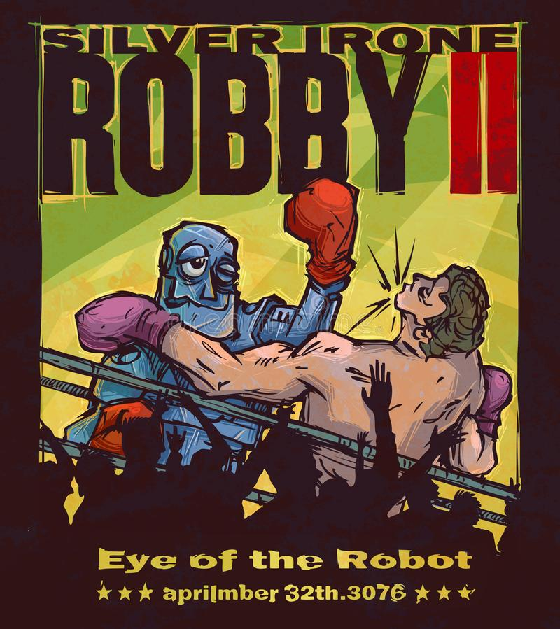 The eye of the robot stock illustration