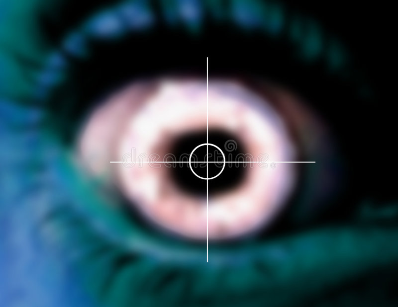 Eye scan. A photo of an eye scan vector illustration