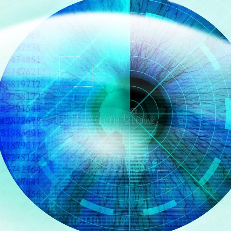 Eye scan vector illustration