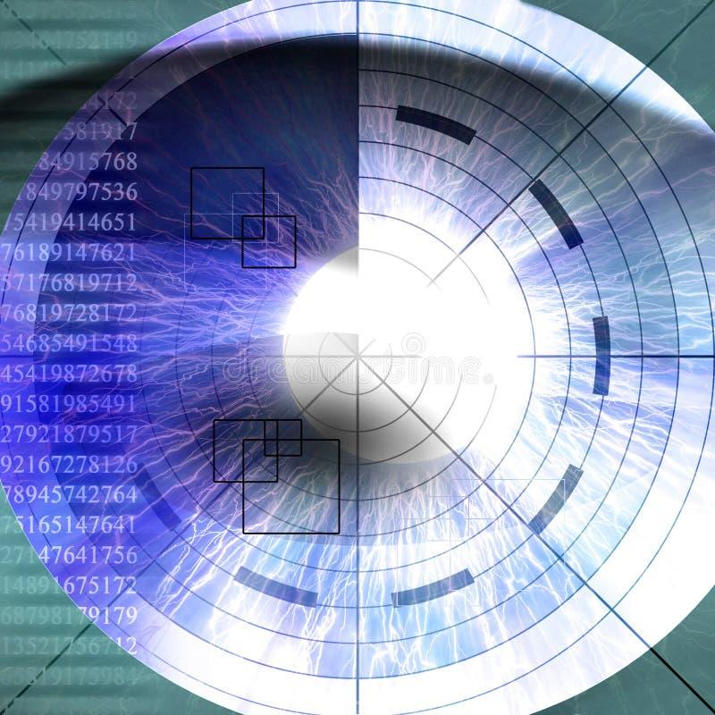 Download Eye scan stock illustration. Image of retina, iris, digital - 6316014