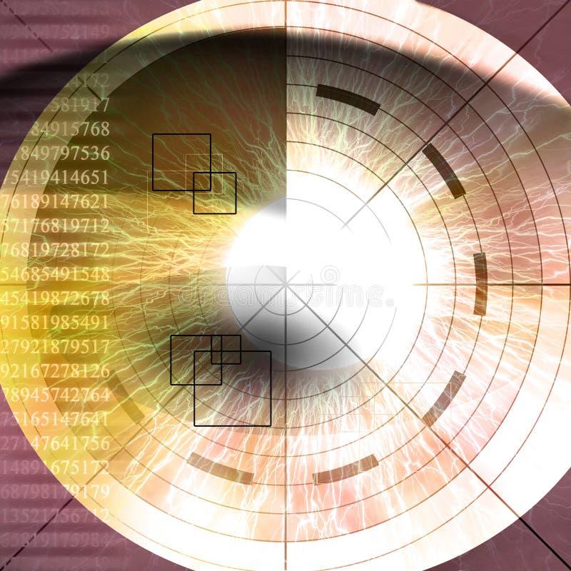 Download Eye scan stock illustration. Image of access, human, scanner - 7566815