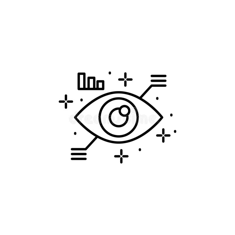 Eye scan icon. Element of artificial intelligence royalty free illustration