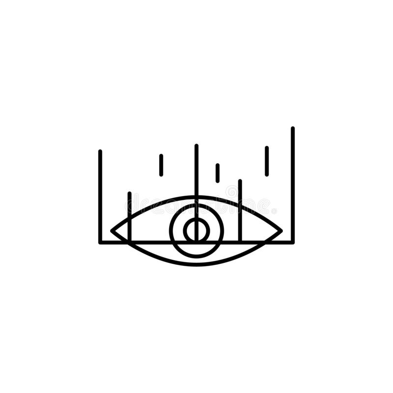 eye scanner icon. Element of future technology icon for mobile concept and web apps. Thin line eye scanner icon can be used for royalty free illustration