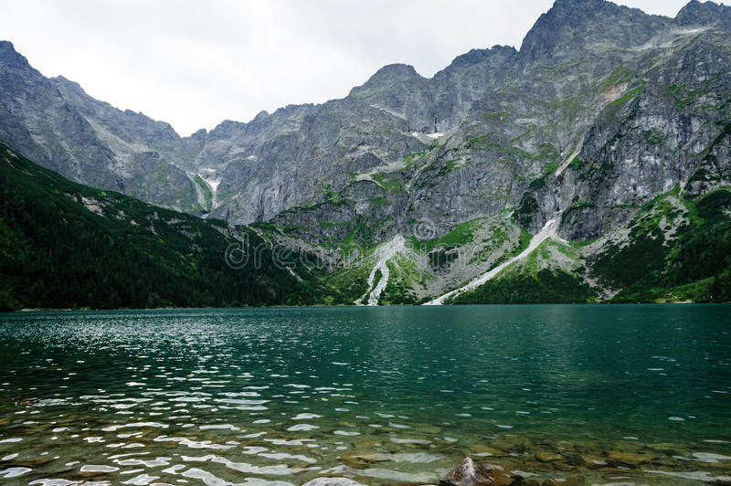 Eye of the Sea lake in Tatra. Mountains royalty free stock image
