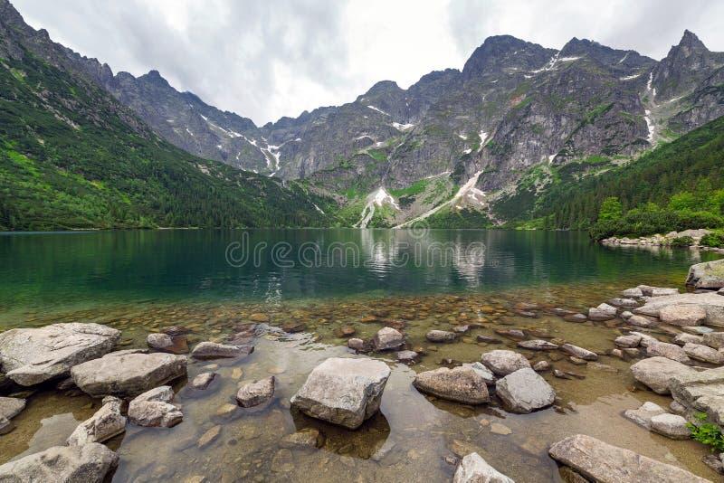 Download Eye Of The Sea Lake In Tatra Mountains Royalty Free Stock Image - Image: 32056096