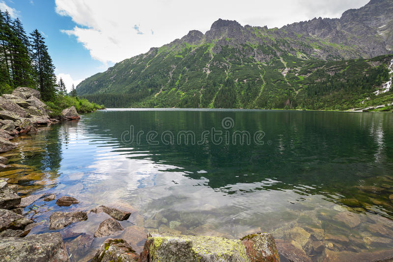 Download Eye Of The Sea Lake In Tatra Mountains Stock Images - Image: 32056284