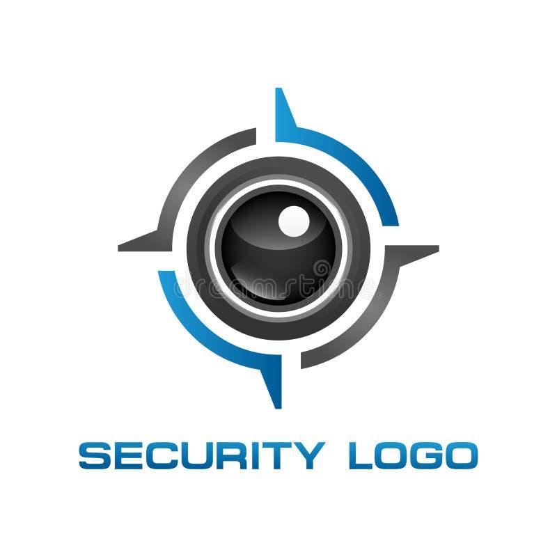 Eye Security concept. Illustrator. Eye icon camera security. CCTV logo stock illustration