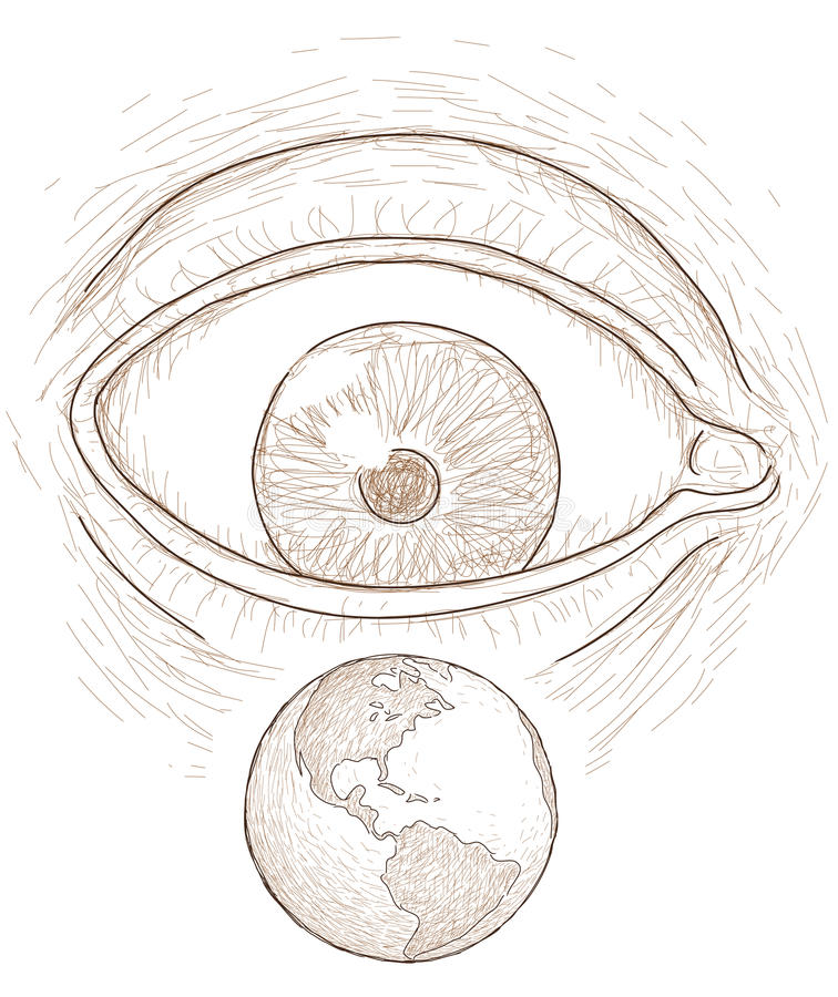 Download Eye sees the world stock vector. Illustration of spirituality - 25037714