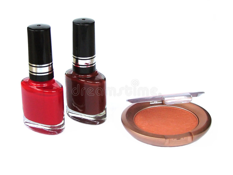 Eye shadow nail polish royalty free stock photography