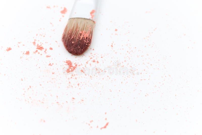 Makeup brush isolated on white background stock photo