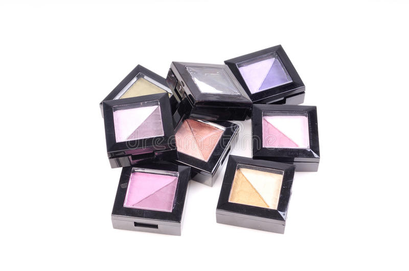 Eye shadow shade boxes stock images