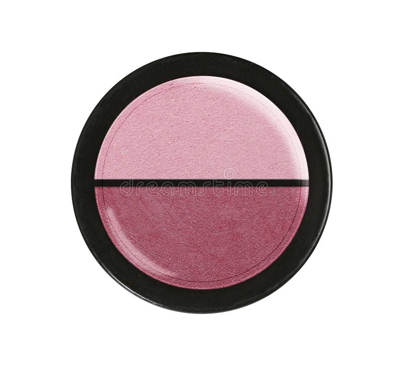 Eye shadows. Cosmetic product. Plastic case. stock images