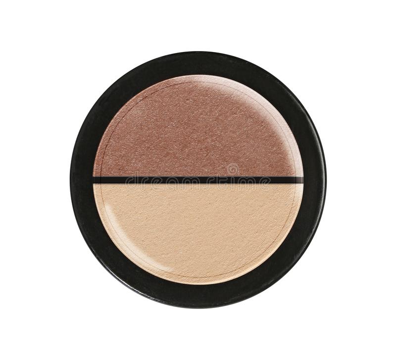 Eye shadows. Cosmetic product. Plastic case. royalty free stock photo