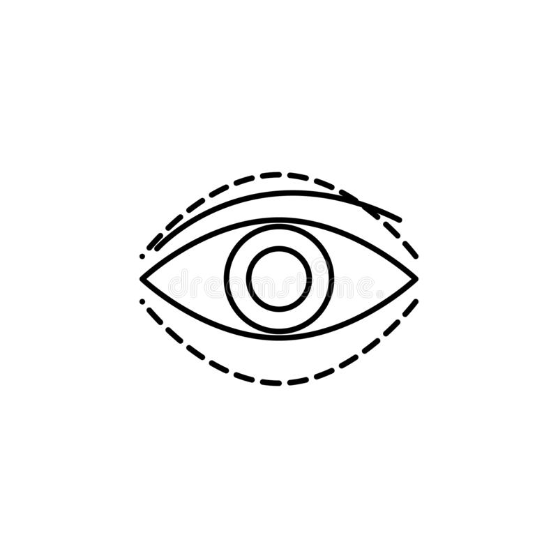 Eye silicone surgery beauty icon. Element of beauty and anti aging icon for mobile concept and web apps. Thin line eye silicone su. Rgery beauty icon can be used vector illustration
