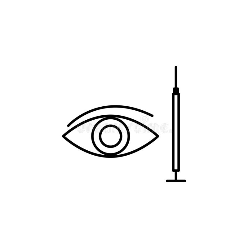 Eye silicone surgery beauty icon. Element of beauty and anti aging icon for mobile concept and web apps. Thin line eye silicone su. Rgery beauty icon can be used royalty free illustration