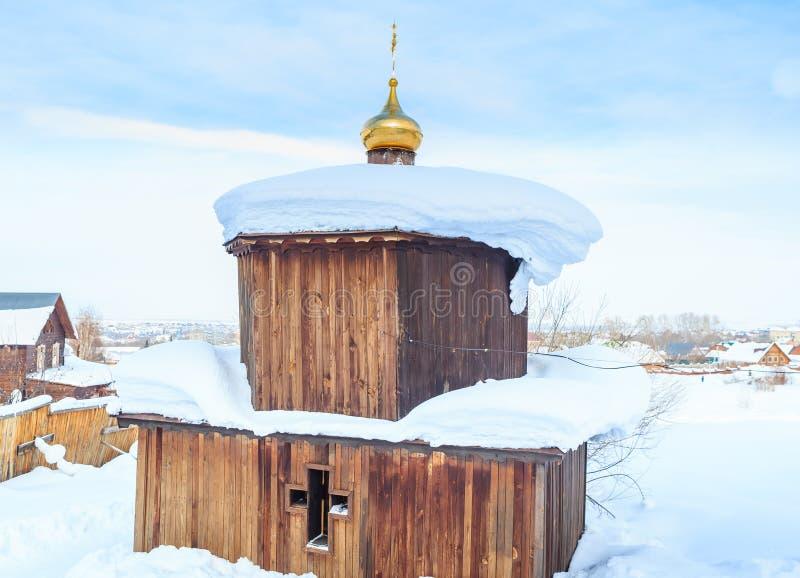 Eye source at the church of St. Panteleimon. The Healer, Belokurikha, Altai, Russia stock image