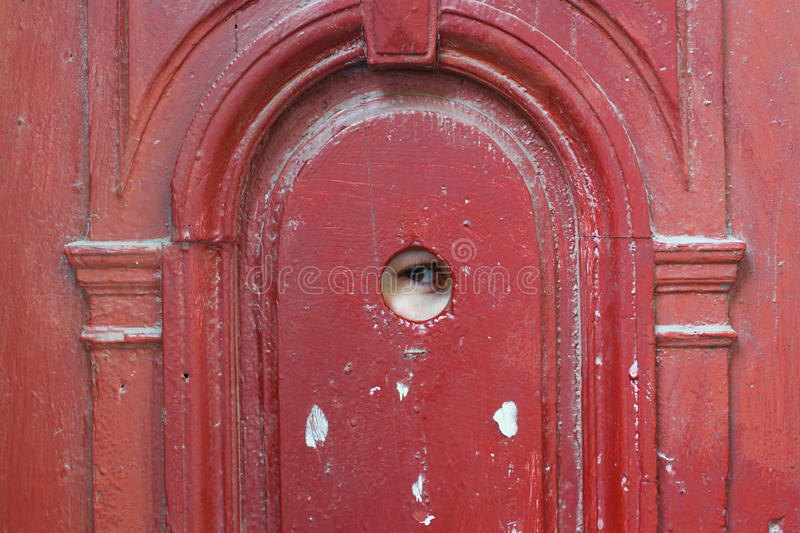 Download Eye Spy Through The Looking Hole Stock Photo - Image of door retro & Eye Spy Through The Looking Hole Stock Photo - Image of door retro ...