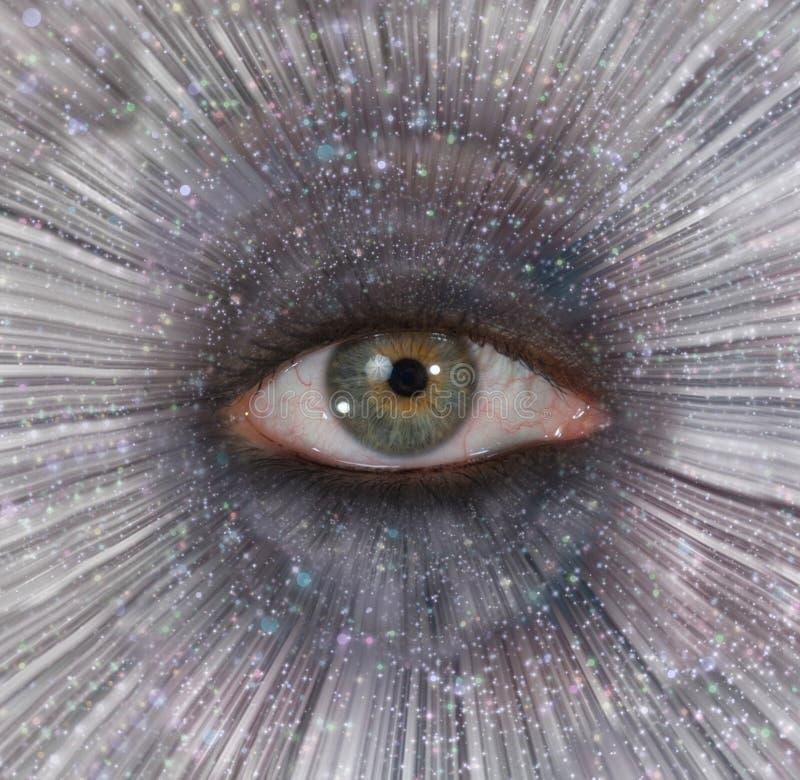 Eye in Star Burst stock photography