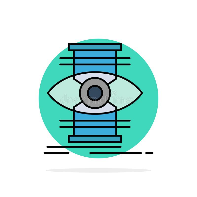 Eye, Success, Focus, Optimize Abstract Circle Background Flat color Icon vector illustration