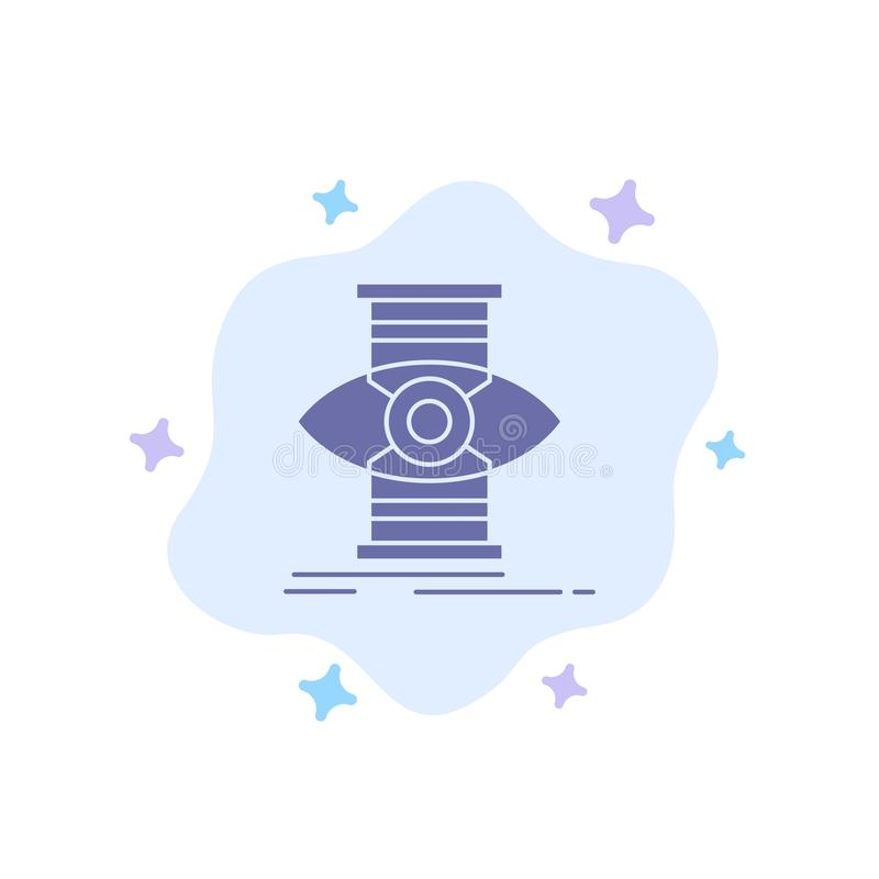 Eye, Success, Focus, Optimize Blue Icon on Abstract Cloud Background stock illustration