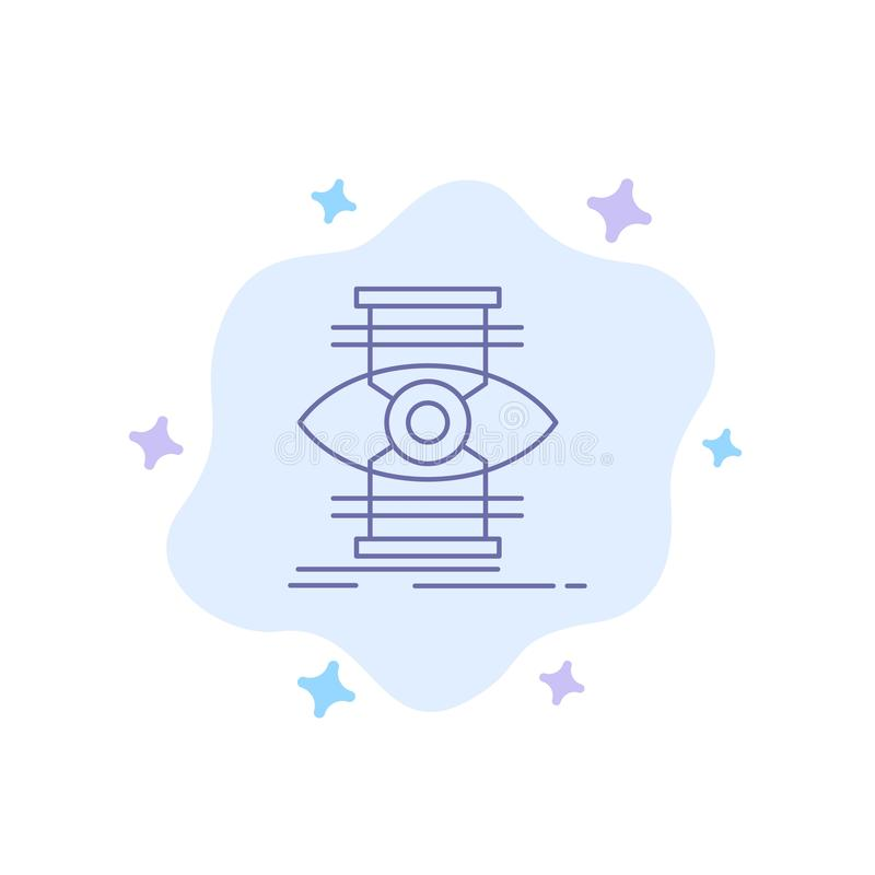 Eye, Success, Focus, Optimize Blue Icon on Abstract Cloud Background royalty free illustration