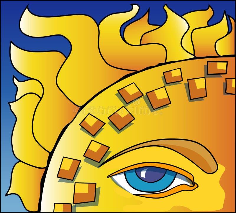 Eye of the Sun stock illustration