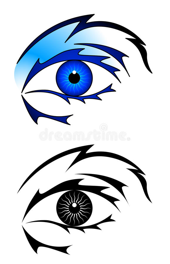 Eye Tattoo Royalty Free Stock Images