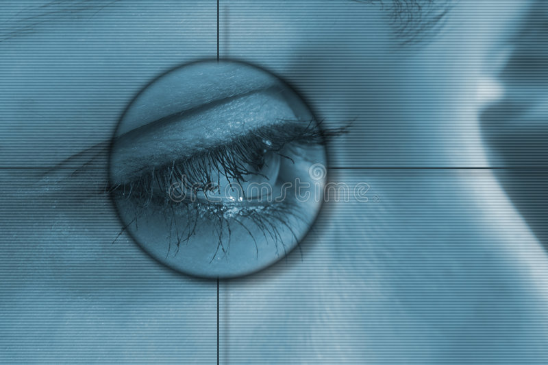 Eye tech royalty free stock images
