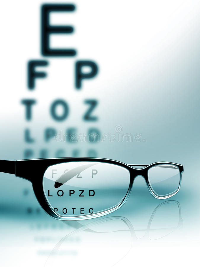 Download Eye test stock illustration. Image of optician, optometry - 20357508