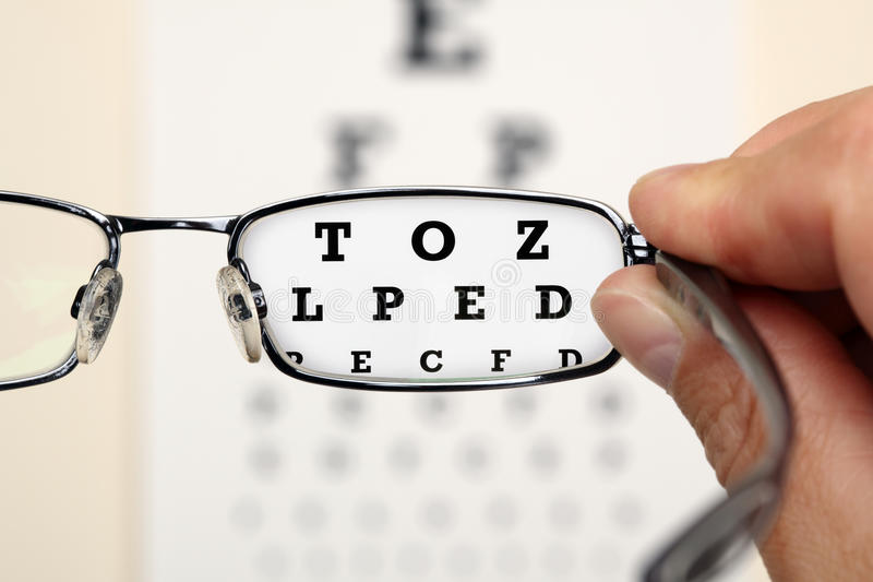 Download Eye test stock image. Image of hand, reading, colour - 20790983