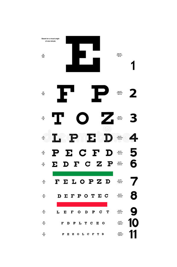 Download Eye test chart stock image. Image of test, sight, vision - 23649133