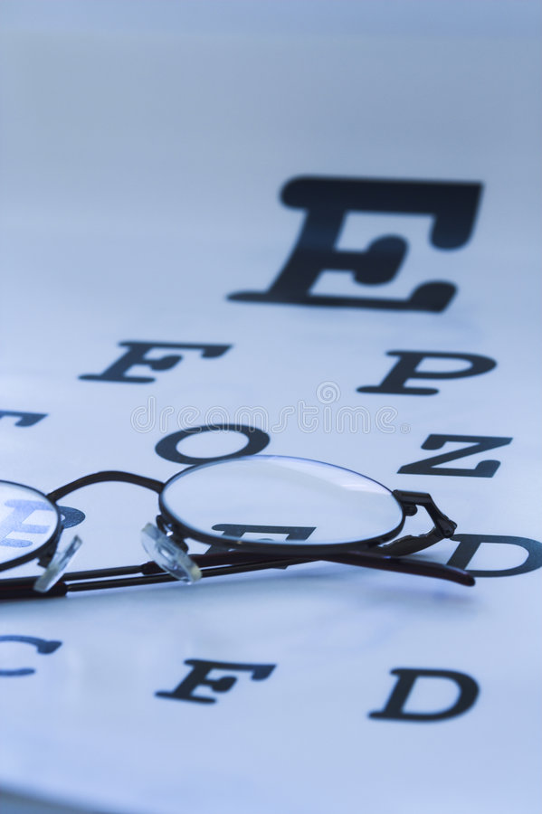 Eye test chart royalty free stock photo