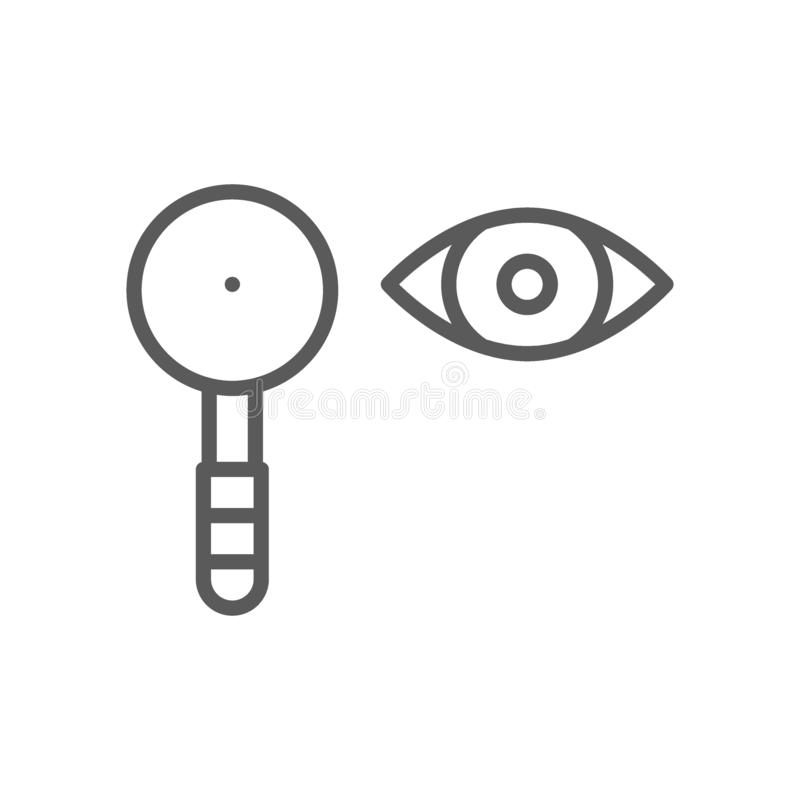 Eye test, scapula line icon. Vector eye test, scapula line icon. Symbol and sign illustration design. Isolated on white background royalty free illustration
