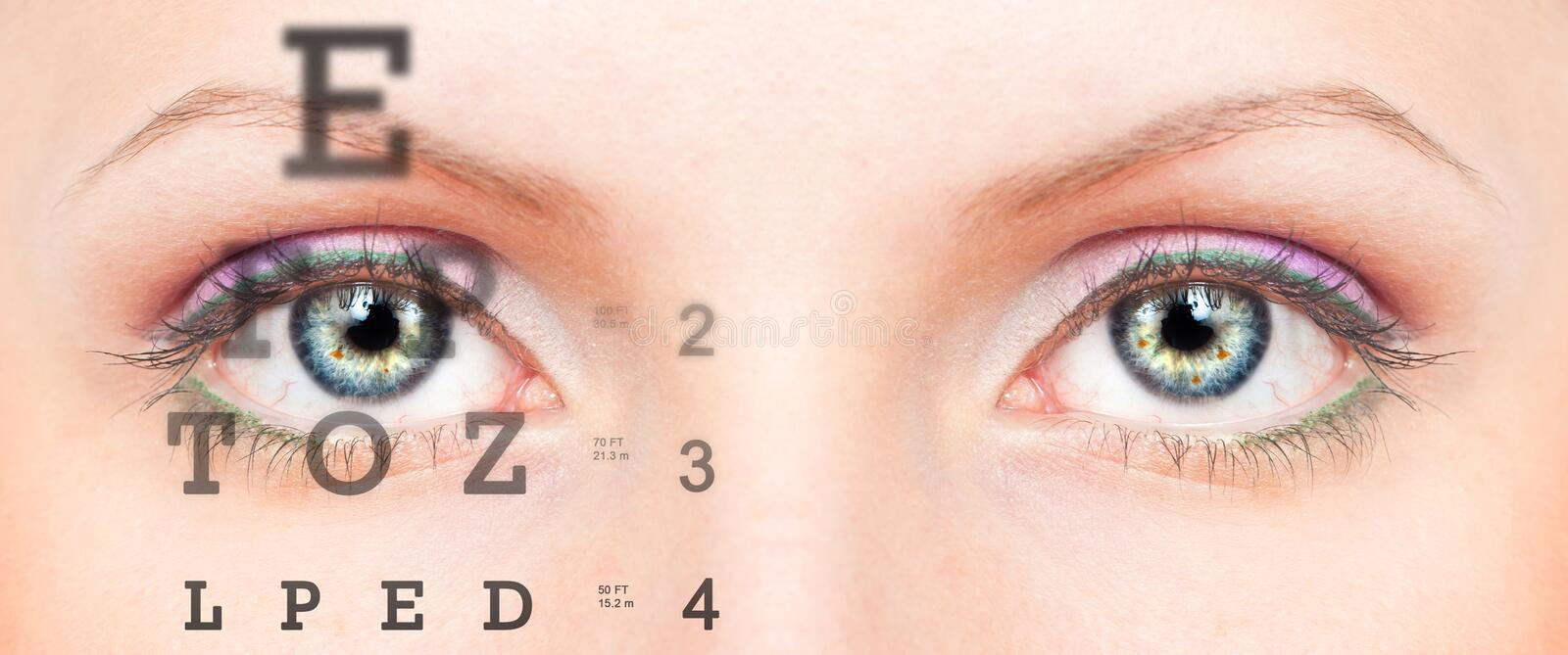 Download Eye With Test Vision Chart Royalty Free Stock Images - Image: 28033109