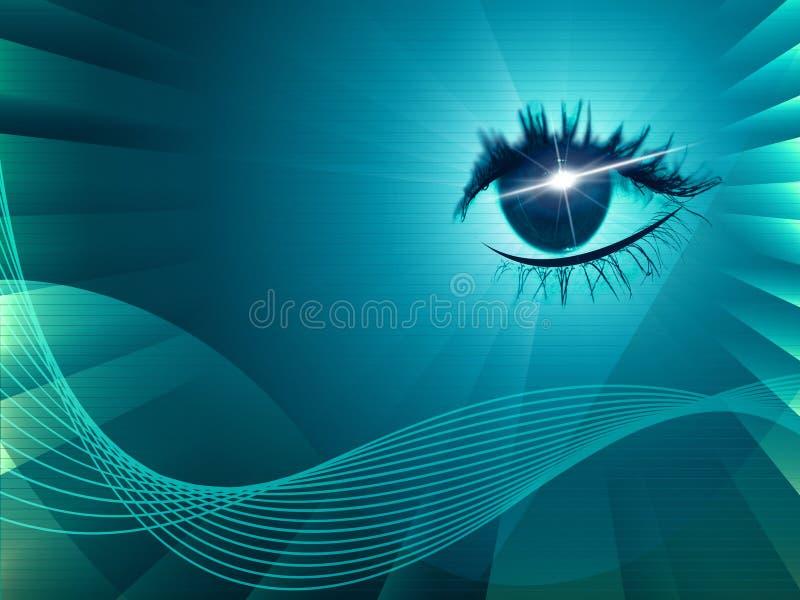 Eye Twirl Indicates Light Burst And Artistic stock illustration