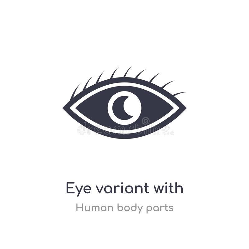 eye variant with enlarged pupil outline icon. isolated line vector illustration from human body parts collection. editable thin vector illustration